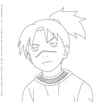 kid Iruka lineart by synyster-gates-A7X