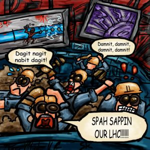 Spy sappin' our LHC!