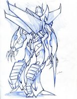 Novablade tfp oc - back angle 2 with blade by winddragon24