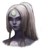 Opal sketch painting by arhiee