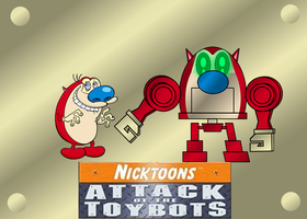 STIMPY AND STIMPYBOT by mayozilla