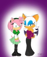 A Gift: Amy and Rouge colored by chi171812