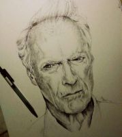 Clint Eastwood by IamLesFleurs