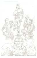 THE DEFENDERS by drawhard