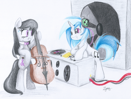 Commission - Music Duel by Zyncrus