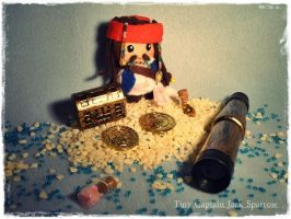 Cute little Tines II: Tiny Jack Sparrow Plushie by Plushbox