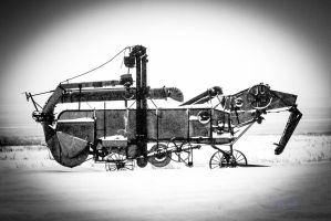 Threshing machine cold and lonely by Kaptive8