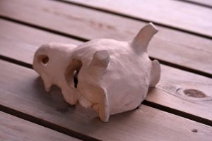 Cubone ceramics project BACK by Sanngot