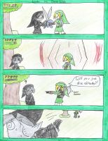 Link VS Dark Link by Nezumechan