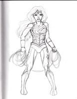 Wonder Woman Sketch 2 by Comix-Chick