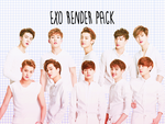 Pack PNG #2 EXO by XieraaaPark