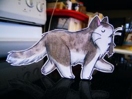 Paper Ratting Cat by pettyartist
