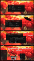 After Dark Gray Glass Theme For Windows10  RTM Nov by Cleodesktop