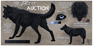 Big Black Hunky Wolf AUCTION: CLOSED byebye by KFCemployee