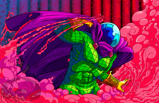 Mysterio in the Mist Print by Empty-Brooke