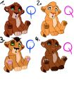 Cute Lion Cub Adoptables [CLOSED] by Chan98