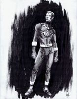 Miraclman/Marvelman convention sketch by RobertHack