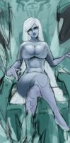 Unmasked (and unclothed) Lissandra :P by synsinsyn