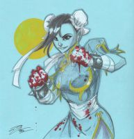 Chun Li from Street Fighter by Hodges-Art