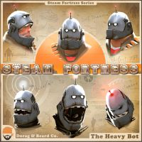 Steam Fortress Heavy Bot by Mannymation