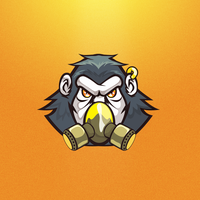 Menacing Mask Monkey Mascot by nirman