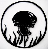 Jellyfish Paper Cut by fruits-basket-head