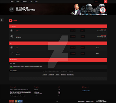 StickyServers Index Page by enviraphani