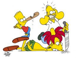 Bart whacks Bob by JayFosgitt