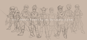 Dragon Quest Heroes (work in progress sketch) by MonochromeAgent