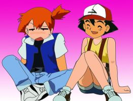 Ash and Misty Swap by L4Drules4