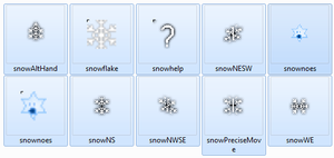 Snowflake cursors by catluvr2