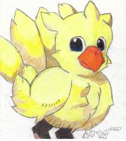 Chocobo in Color by shewolfpup2000