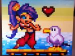 Shantae Pixel Art Painting by IvanDashSmith