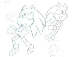 Sonic sketch 2 by PaperBagHero