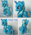 My little Pony Custom G4 Styling Trixie by BerryMouse