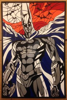 Duct Tape Batman Stained Glass Style by DuctTapeDesigns