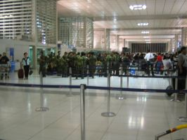 Soldiers in the Airport by BoggeyDan