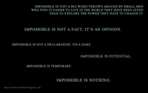 Wallppr: Impossible is Nothing by msahluwalia