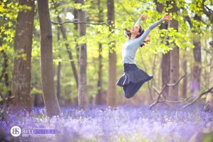 Jumping In The Bluebells by thesashabell
