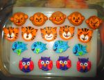Animal Buddy Fondant Designs (Season 2015) by ToughSpirit