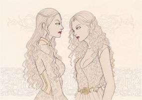 Cersei and Margaery by AShiori-chan