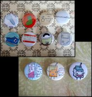 items and drinks badges by untitled512