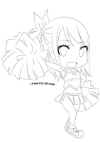 Chibi Lucy (Lineart) by SilvaSE