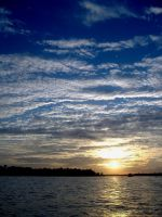 Sunset on Clear Lake by DeloreanREB