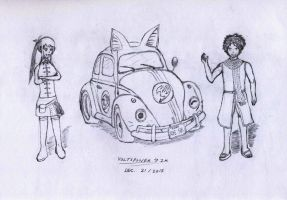 Happy the Love Bug by VoltsPower2K