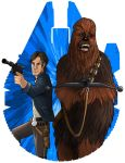 Han and Chewie by SumtimesIplaytheFool