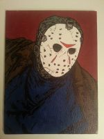 Jason Voorhees painting by TheScarecrowOfNorway