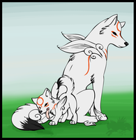 Okami and Son -Personal- by DrMario64