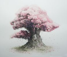 Bonsai Watercolor 01 by Masakonen