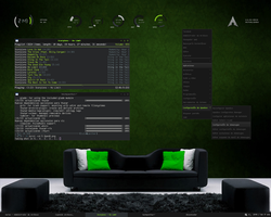 Arch and OpenBox Dark-Lime by pnthr